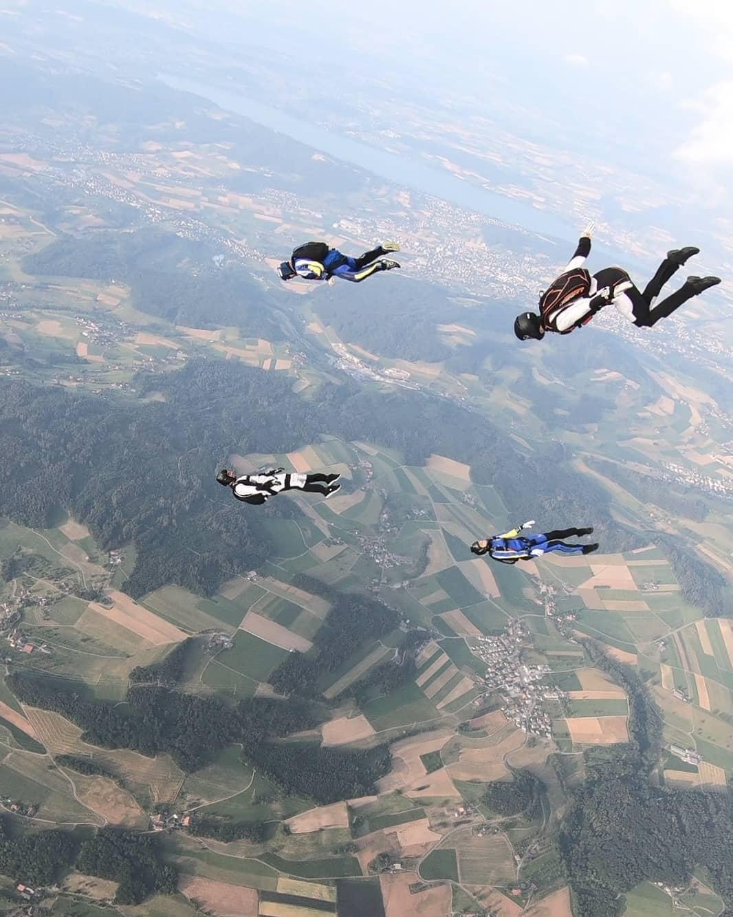 Skydiving als Gruppe